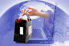 Online shopping stock image