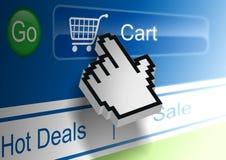 online-shopping Arkivbilder