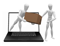 Online shopping stock illustration