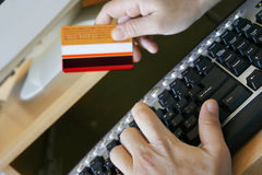 Online shopping. Online credit card payment Stock Image