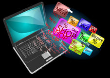 Online shopping Stock Photography