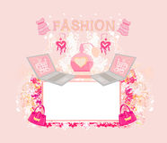 Online shopping abstract frame Royalty Free Stock Images