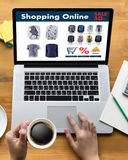 Online Shopping Add to Cart Online Order Store buy Sale Digital. Online ecommerce Marketing stock photos