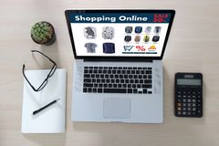 Online Shopping Add to Cart Online Order Store buy Sale Digital Stock Photography