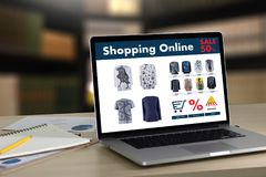 Online Shopping Add to Cart Online Order Store buy Sale Digital Royalty Free Stock Photos