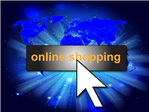 Online shopping background Stock Photos