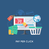 Online shopping background Royalty Free Stock Photos