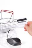Online shopping basket Stock Images