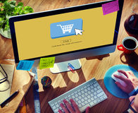 Online Shopping Business Click Commercial Concept stock image