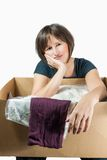 Online-Shopping can be strenguous royalty free stock photos