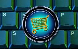 Online shopping cart royalty free illustration