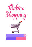 Online Shopping Cart Banner Ecommerce Concept Royalty Free Stock Photos