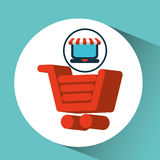 Online shopping cart concept Stock Photos