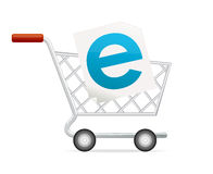 Online shopping cart Stock Photography