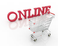 Online shopping royalty free stock photography