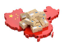 Online shopping in China concept Royalty Free Stock Photo