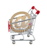 Online shopping. Clipping path included. Royalty Free Stock Images