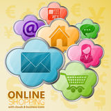 Online Shopping & Cloud Computing Concept Stock Photography