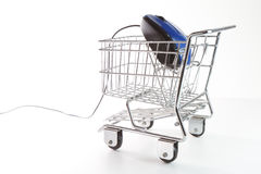 Online shopping concept. Online shopping on white background concept Royalty Free Stock Photography