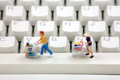 Online shopping concept. Royalty Free Stock Photography