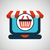 Online shopping concept basket buy icon Royalty Free Stock Image