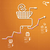 Online  Shopping. Concept chart online shopping whit simple icons Stock Photos