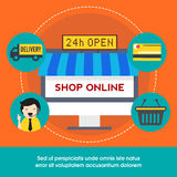 Online Shopping concept with creative elements. Stock Photography
