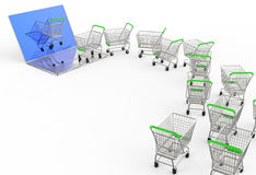Online shopping concept Stock Image