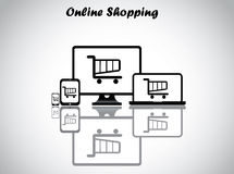 Online shopping concept design vector illustration Royalty Free Stock Photo