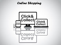 Online shopping concept design vector illustration Stock Photos