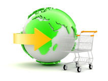 Online shopping - concept illustration Royalty Free Stock Photos