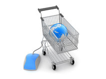 Online shopping - concept illustration Stock Image
