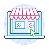Online shopping concept Royalty Free Stock Photos