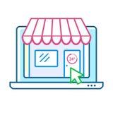 Online shopping concept Stock Photos
