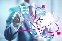 Online shopping stock illustration