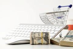 Online shopping concept. Market, metallic. Stock Photos
