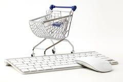 Online shopping concept. Market, metallic. Stock Photo