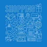 Online Shopping Thin Lines Web Icon Concept Stock Photo