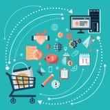 Online shopping concept stock illustration