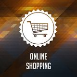 Online Shopping Concept on Triangle Background. Stock Photos
