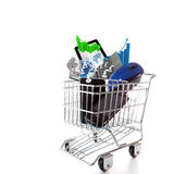 Online shopping concept. Online shopping on white background concept Royalty Free Stock Photos