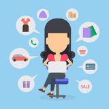 Online shopping concept. Royalty Free Stock Images