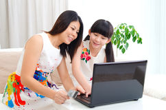 Online shopping with credit card Stock Photography
