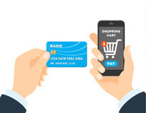 Online shopping with credit card. Stock Photo