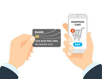 Online shopping with credit card. Stock Photography