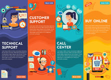 Online Shopping, Customer and Technical Support Call Center Concept Stock Photography
