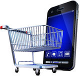 Online shopping. 3D illustration of an online shopping concept Stock Image