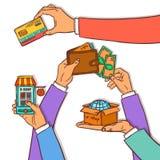Online shopping design concept Royalty Free Stock Photos