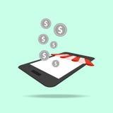 Online shopping, digital marketing, mobile illustration Royalty Free Stock Photos