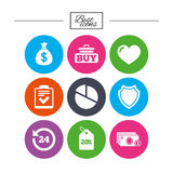 Online shopping, e-commerce and business icons. Stock Photography